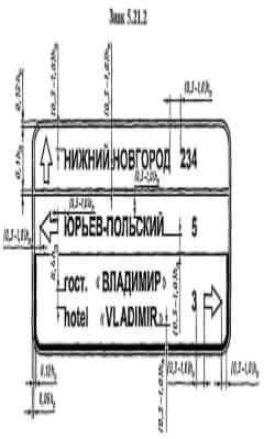 Дорожный знак индивидуального проектирования